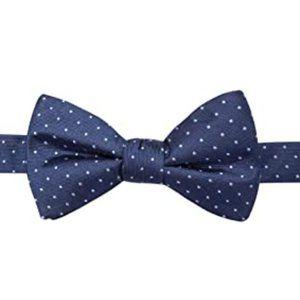 Ryan Seacrest Silk Polka Dot Navy Pre-Tied Bow Tie